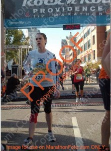 This is a terrible photo of me, but it captures the relief of finishing a long race. And this was only a half marathon!
