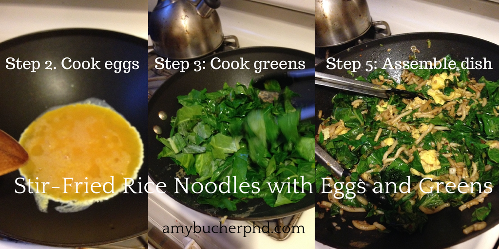 Recipe: Stir-Fried Rice Noodles with Eggs and Greens | Amy ...