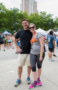 After a 5k run in July 2014 with my husband.
