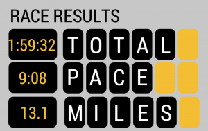 RACE RESULTS (1)
