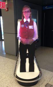 """TSA """"hologram"""" in many airports."""