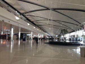 Inside the McNamara terminal at DTW.