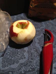 Peel those apples!