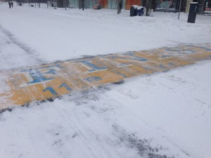 Please let the marathon finish line look less snowy on April 20!