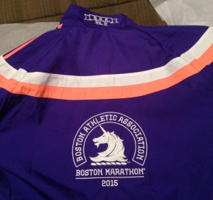 At least my official Marathon jacket arrived to brighten the week. Not to be worn till I cross that finish line.