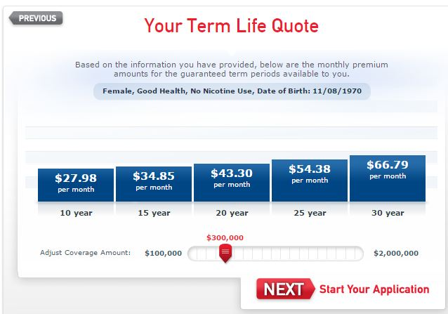 The term life insurance calculator adjusts your premiums based on coverage amount and length of policy.