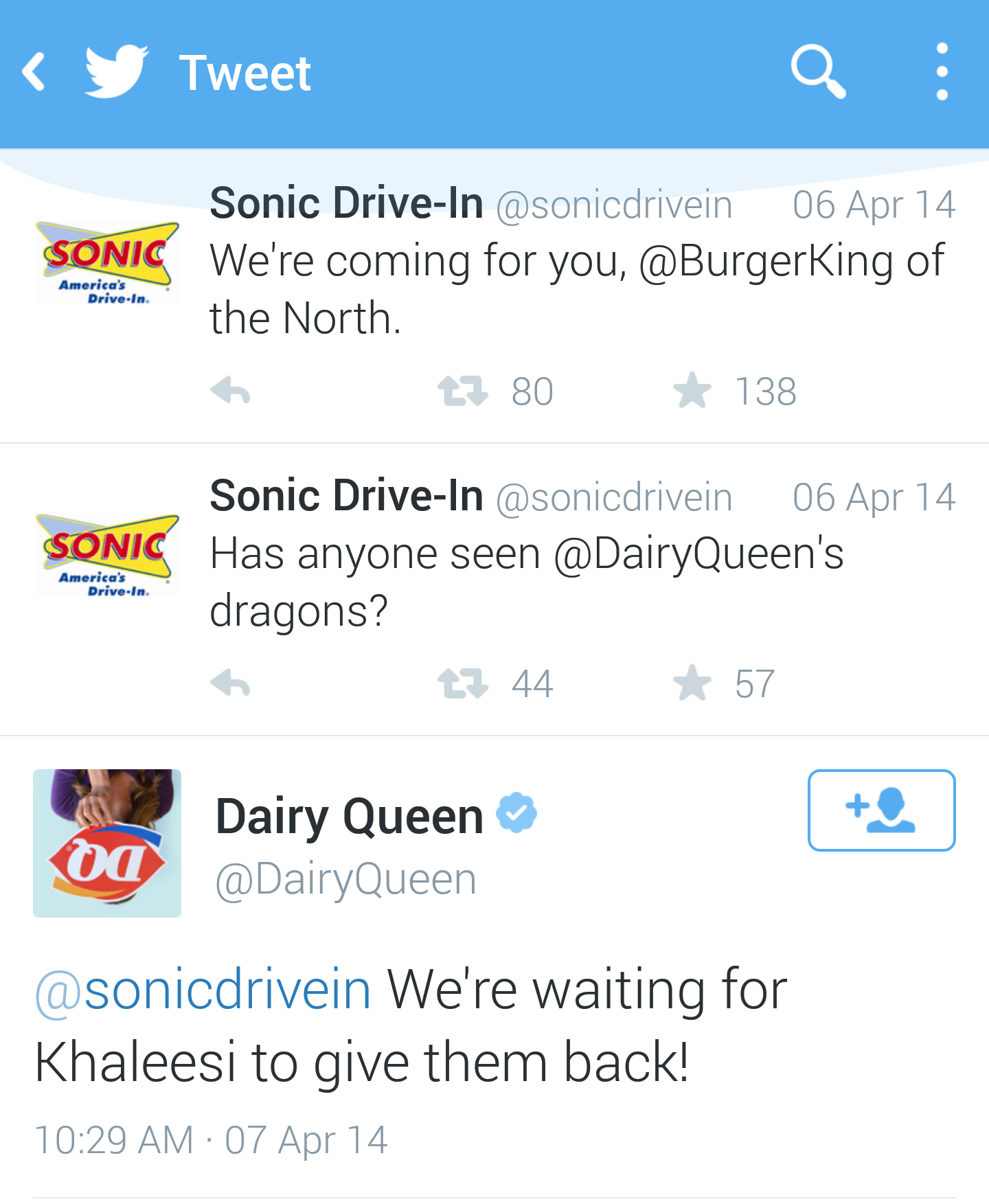 OK, a little lame on Dairy Queen's part, but they responded!