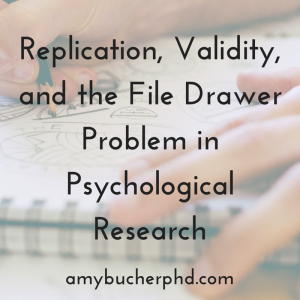 Replication, Validity, and the File Drawer
