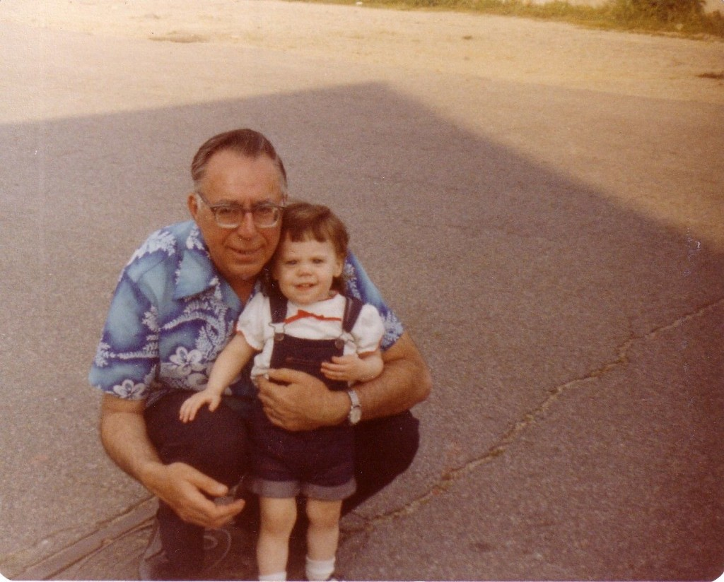 Me with my grandfather. His story was one of the reasons I was passionate to raise money for Dana-Farber.