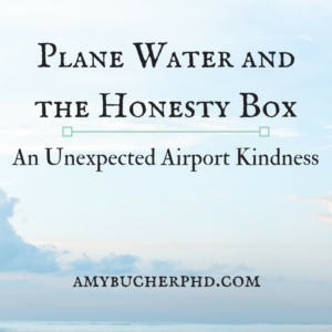 Plane Water and the Honesty Box