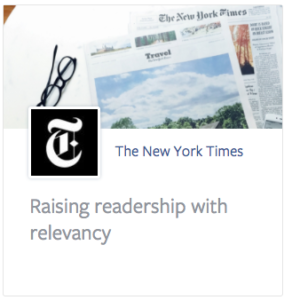 Facebook says the New York Times can drive readership by advertising on their network . . . but them elevating fake news through their algorithm doesn't affect its spread?