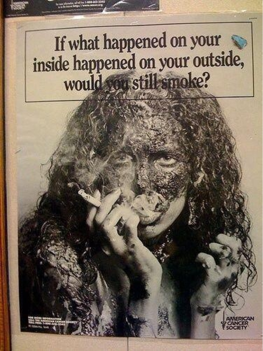 A memorable anti-smoking ad from my youth. Did it work?