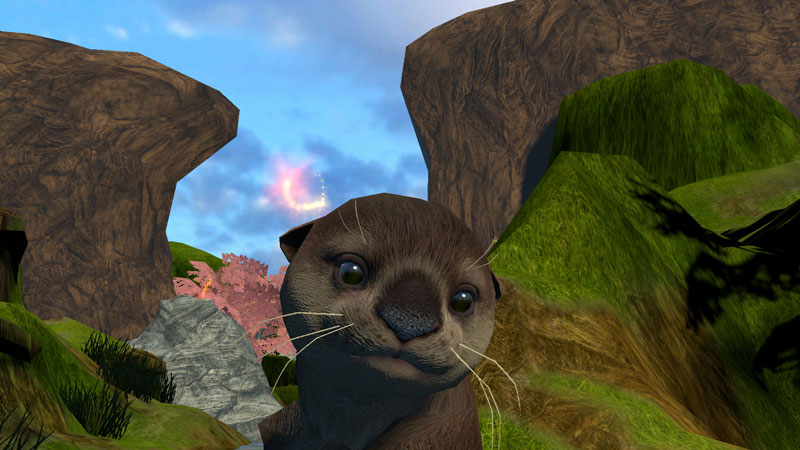 One of the otter characters in DeepstreamVR's Cool! virtual reality game.